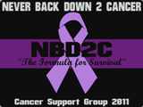 NBD2C Never Back Down 2 Cancer Custom Shirts & Apparel